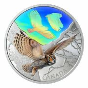 2019 30 Fine Silver Coin Majestic Birds In Motion Great Horned Owls