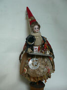 1880 Rare Fortune Teller Lady Doll W/tray S H Closed Mouth French Market
