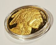 2012 Copy 50 Buffalo 24-kt Gold Plated Indian Head Coin