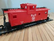 Vintage Ahm 5485 F - Baltimore And Ohio Extended Vision Caboose In Box Ho Scale