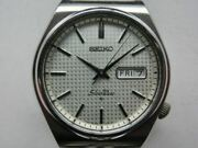 Vintage Seiko Silver Wave 6306-8010 Analog Men's Watch Automatic Used Authentic