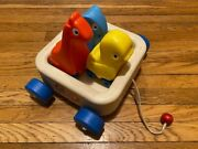 Vintage Little Tikes Animal Pal Friends Pull-along Toy Wagon 1980s - Used