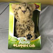 Wowwee Alive Leopard Cub Plush Robotic Sounds Animated Toy 11 New In Box Rare