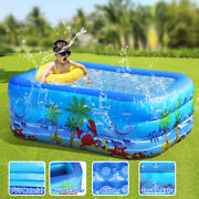 5.9ft Children Inflatable Pools Family Backyard Swimming Pool Home In/outdoor