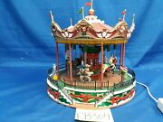 Lemax Village Collection Santa Carousel 34682 As Is Eb304