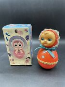 1980 Roly Poly Taiwan Celluloid Baby Musical Toy 1980s Doll New Old Stockmd