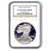 Certified Proof Silver Eagle 2003 Pf70 Ngc