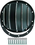 Chevy Truck / Car 10 Bolt Black Finned Aluminum Differential Cover 8.2 8.5