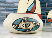 Lot Of 3 Kokepelli Native American Art Pottery Vase Bell Chime Candle Holder