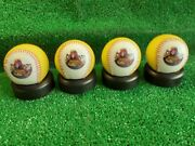 Collectable The Beatles Yellow Submarine Baseball Ball Set Boxed With Stand