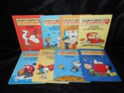Charlie Brown Encyclopedia Lot 1 - 8 Books 1980 Snoopy Peanuts Boats Cars Planes