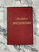 1895 Antique Travel Guide Book South Eastern France W/ Maps
