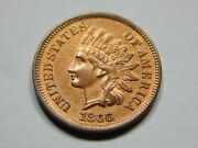 1866 1c Indian Head Cent Ms++ Unc Bu Red Brown