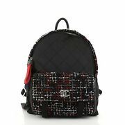 Astronaut Essentials Backpack Quilted Nylon With Tweed Medium