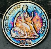 1872 Seated Liberty Half Dime 5c High Grade Details 90 Silver Us Coin Cc7564