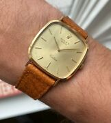 Vintage Rolex Cellini 18k Yellow Gold Tank Manual Wind Champagne Dial Watch