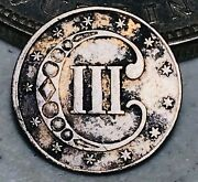 1852 Three Cent Silver Piece Trime 3c Type 1 Ungraded Good Date Us Coin Cc7573
