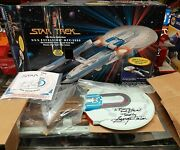 Star Trek U.s.s Excelsior Ncc-2000 Autographed By George Takei