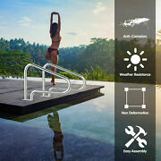 2pcs Stainless Steel Hand Rail With Quick Mount Base Swimming Pool In Summer Us