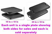 Pre-seasoned Cast Iron Reversible Grill Skillet With Dual Handles Durable Frypan