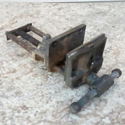 Vintage Columbian 7-cd Under Bench Mount Woodworking Vise 7 Jaw 9 Max Open Vgc