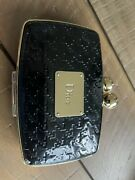 Vintage Dior Powder Makeup Compact And Mirror Gold Mag Clasp