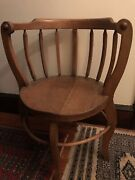 Antique Oak Corner Chair From Nc About 1900. Original Finish Needs Tightening
