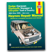 Haynes Repair Manual For 1984-1988 Chrysler Town And Countrycar - Shop Service Ee