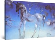 Salvador Dali Unicorn Reproduction Paper Posters Or Canvas Framed Wall Art
