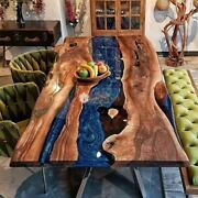 Epoxy Table Dininglive Edge Epoxy Resin Dining Table Top Handmade Furniture