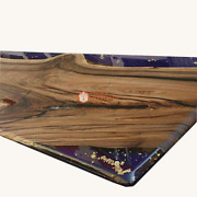 Luxury Resin Table Top Epoxy Table Coffee Table Acacia Wooden Epoxy Table Deco
