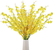 Bomarolan Artificial Orchid Silk Fake Flowers Faux Dancing Lady Orchids Stems Fl