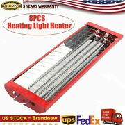 Infrared Paint Curing Lamp 8 Set 2kw Spray Baking Booth Light Heater 110v