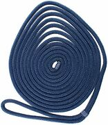 20ft 3/8 Inch Nylon Mooring Rope Double Braid Dock Line Anchor Boat Mariner Rope