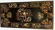30 Inch Marble Coffee Table Top Mosaic Art Royal Look Sofa Table For Home Decor