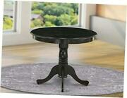Ant-abk-tp Antique Dining Table Made Of Rubber Wood 36 Inch Round
