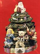 Spode Toys Around The Christmas Tree Cookie Jar Hand Painted New In Box