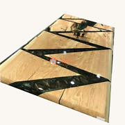 Acacia Wooden Epoxy Dinner Table Tops Custom Order Epoxy Resin Table Decors