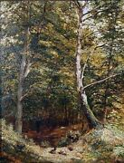 Walter Karl 1868 Andndash 1949. Forest Landscape. Late 19th - Early 20th Century