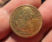 🔥very Rare🔥gold Coin 2 Escudos Philip Iv Year 1800 Mexico Mint Assayers Fm