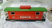 Mth Tinplate Traditions 217 Standard Gauge Caboose Red And Green Mib