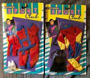 Vintage Ken Snorkeling And Sports Outfits 2 By Shillman 1991 Barbie Bf New