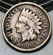 1862 Indian Head Cent Penny 1c Cn Ungraded Good Civil War Date Us Coin Cc7613