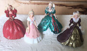4 Vintage Barbie Christmas Ornaments 3 Are Holiday Barbie 93959697