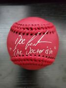 Doc Gooden New York Mets Signed Red Baseball Autographed Auto The Doctor Is In