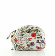 Camera Shoulder Bag Quilted Flora Canvas Small