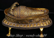 Collect Rare Tibet Silver Gilt Buddhism Temple Shell Conch Horn Trumpet Base Set