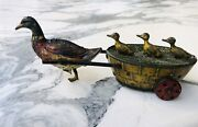 1920s Rare Lehmann Quack Quack Paak Paak 645 Duck Tin Litho Wind Up Toy Germany