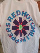 Red Hot Chili Peppers 1989 Infamous Sperm Vintage Licensed Concert Shirt Lg New