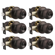 Probrico Ball Privacy Door Knobs Bed And Bath Keyless Handles Locksets, Oil 6